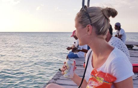 Nachos und Snacks am Steg des Playa Holbox in Mexiko