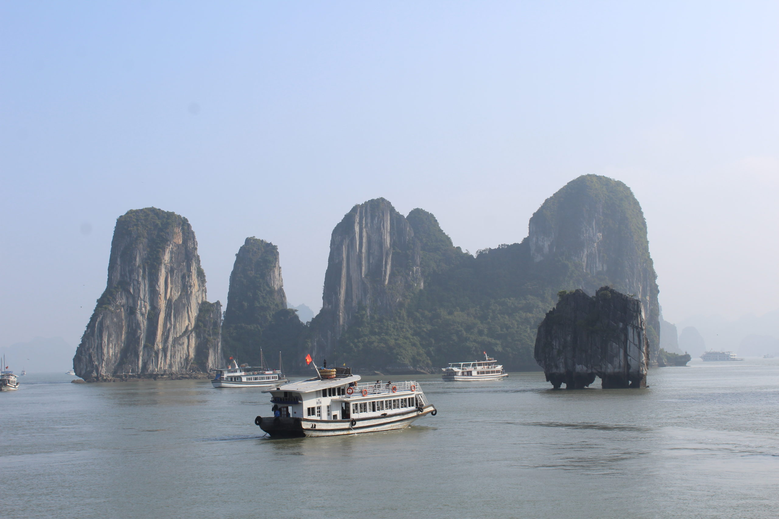 Bootstour in der Ha-Long-Bay in Vietnam