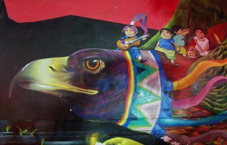 Straßenkunst und Streetart auf der Isla Holbox in Mexiko