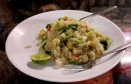 Fried Rice with Vegetables vegan in Thailand