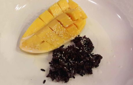 Mango with Sticky Rice vegan in Thailand