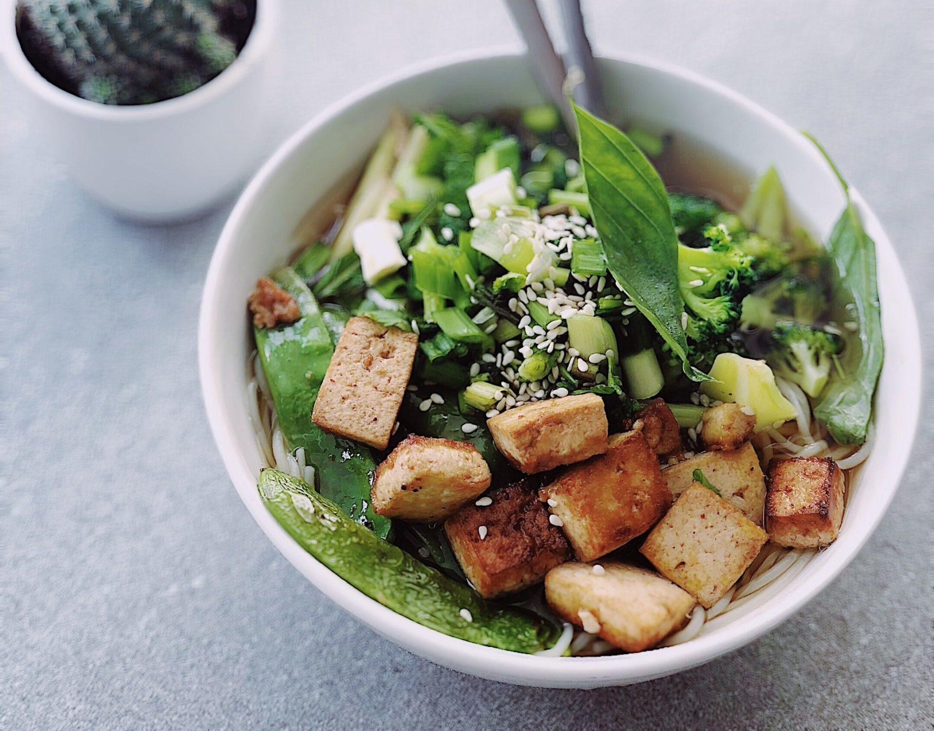 Green Thai Curry mit Tofu in Thailand