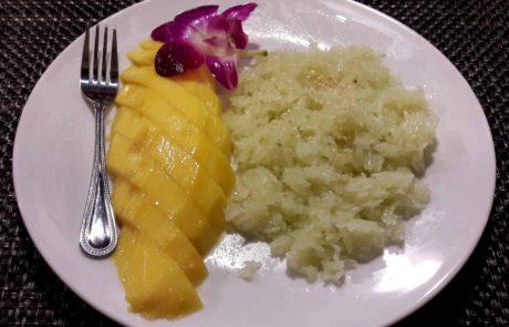 Mango with Sticky Rice vegan in Thailand
