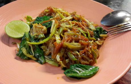 Pad Thai Rice Noodles in Thailand