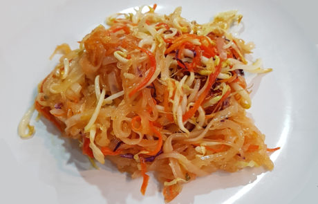 Vegan Pad Thai Rice Noodles in Thailand